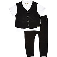 Mini boys black three piece set