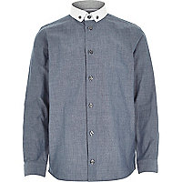 Boys long sleeve blue spot shirt
