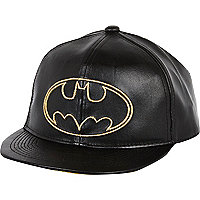 Boys black Batman cap
