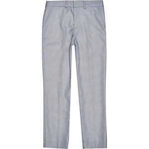 Boys ice blue smart suit trousers