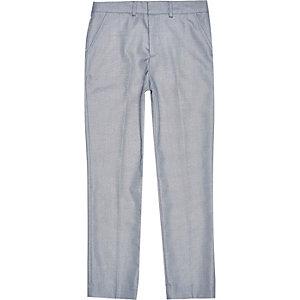 Boys ice blue smart suit pants