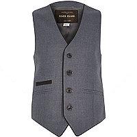 Boys navy formal waistcoat