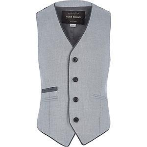Boys ice blue smart waistcoat