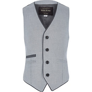 Boys ice blue smart vest