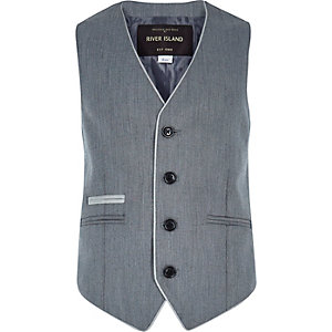 Boys grey smart waistcoat