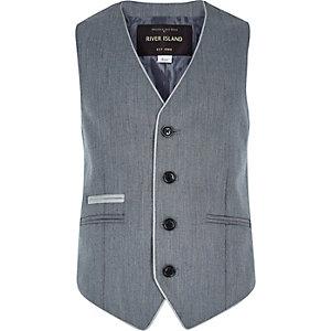 Boys grey smart vest