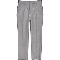 Boys light grey smart suit trouser