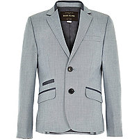 Boys ice blue smart suit jacket