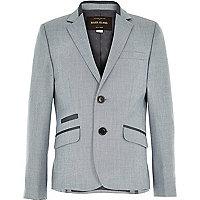 Boys ice blue smart suit jacket