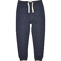 Boys dark blue tapered joggers