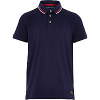 Boys navy short sleeve polo shirt
