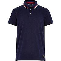 Boys navy short sleeve polo shirt