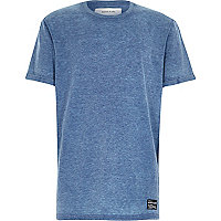 Boys blue burnout t-shirt