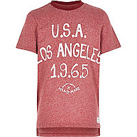 Boys red LA drop back t-shirt