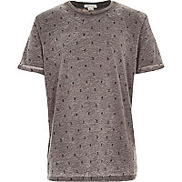 Boys grey Japanese print t-shirt