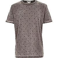 Boys grey Japanese print t-shirt