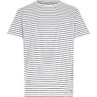 Boys white blue stripe t-shirt