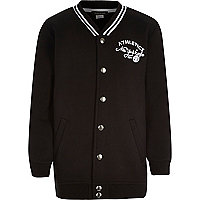 Boys black New York Eagle bomber jacket