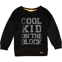 Mini boys cool kid quilted sweatshirt