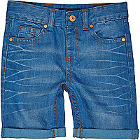 Boys bright blue denim shorts
