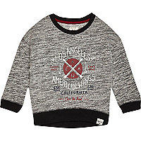 Mini boys grey Los Angeles sweatshirt