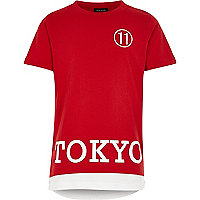 Boys red Tokyo sports t-shirt