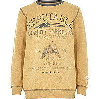 Boys yellow reptuable sweatshirt