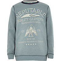 Boys green reptuable sweatshirt