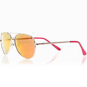Boys gold frame sunglasses