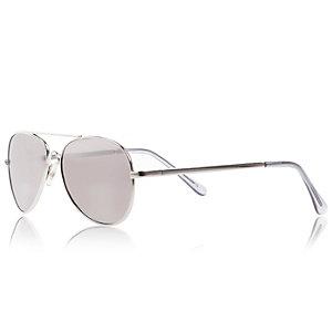 Boys silver tone sunglasses