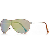 Boys gold tone frame sunglasses