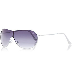 Boys white frame tinted sunglasses