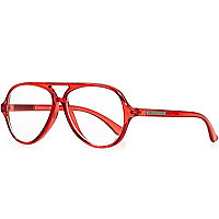 Boys red clear lens glasses