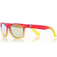 Boys red and yellow frame sunglasses