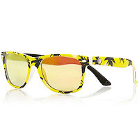 Boys yellow palm tree printsunglasses
