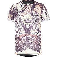 Boys stone navajo print t-shirt