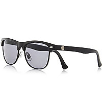 Boys black matte flat top sunglasses