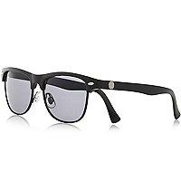 Boys black matte flat top sunglasses