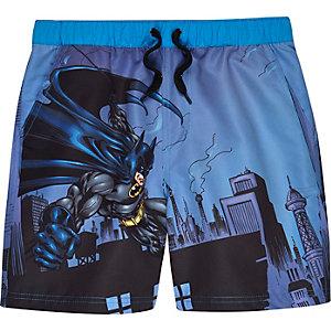 Boys blue Batman swim trunks