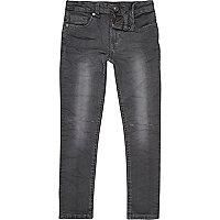 Boys black-blue wash rip Sid skinny jeans
