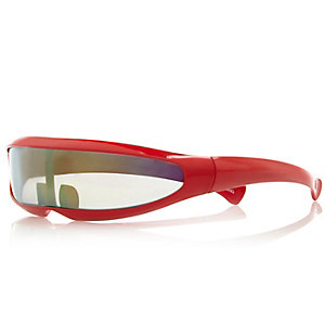 Boys bright red cyclop sunglasses