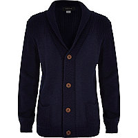 Boys navy button down cardigan