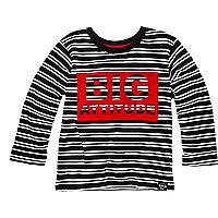 Mini boys big attitude stripe t-shirt
