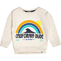 Mini boys stone California dude sweatshirt