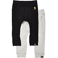 Mini boys grey and black joggers