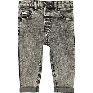 Mini boys grey acid wash jeans