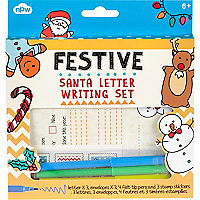 Kids red santa writing set