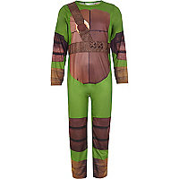 Boys green turtle costume