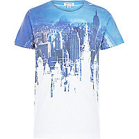 Boys blue city print t-shirt