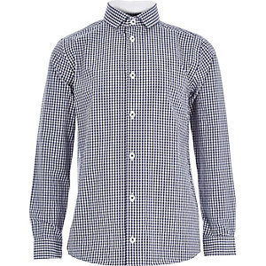 Boys blue gingham shirt